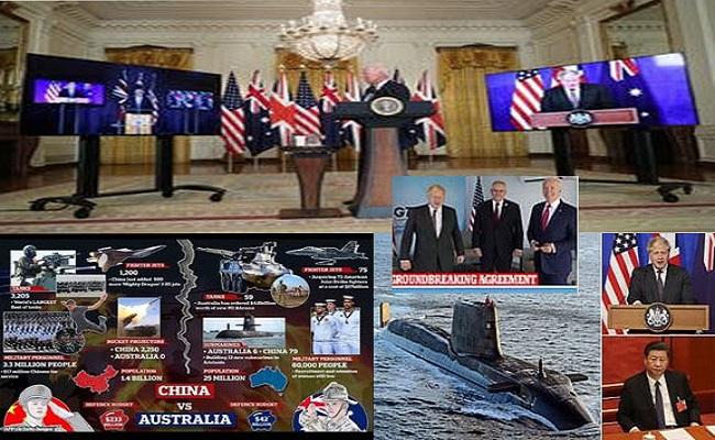 US & UK nih cun Australia nih China counter nak caah nuclear Submarine tuahnak ah an bawm lai tiah cathanhnak an chuah, China thin akhenh bak,